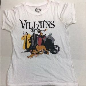 Disney Villains white tee shirt